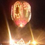 バガンのアーナンダー寺院の貴重な仏像様と下には蓮の花びら